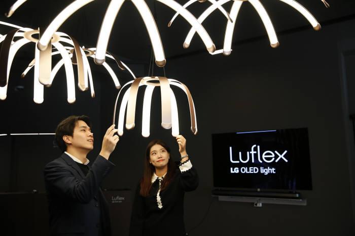 LG디스플레이 OLED 조명 루플렉스(Luflex) (사진=LG디스플레이)