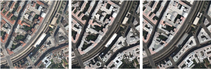 위성정보를 활용한 건물 분류 및 정보 추출 과정