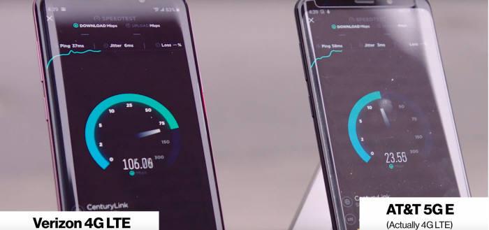 버라이즌이 AT&T의 5G 모바일 서비스 런칭에 대해 자사 4G LTE 서비스와 속도를 비교하며 공개적으로 반박했다.