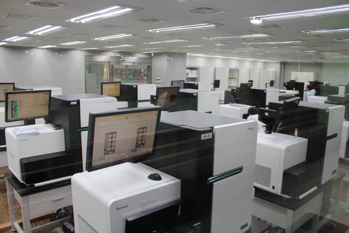 마크로젠 연구실 전경