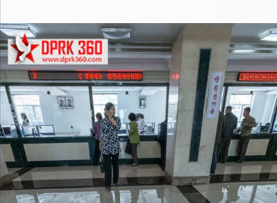 가상체험(VR)로 본 북한 은행 내부 전경