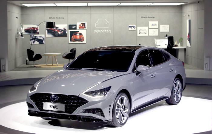 현대차의 중국형 신형 쏘나타.