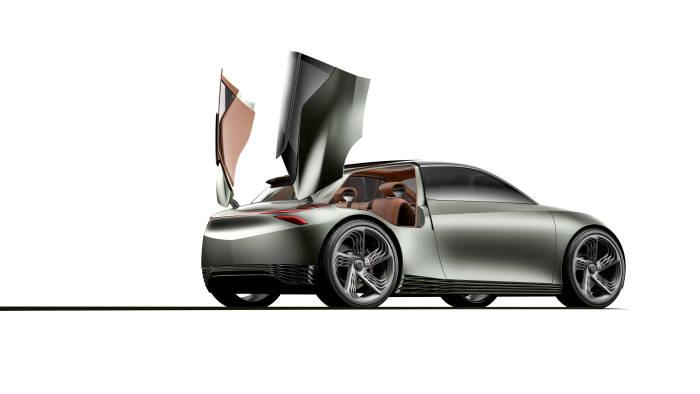 제네시스의 전기차 기반 콘셉트카 민트 콘셉트(Mint Concept) .