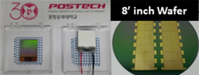 포항공대 실리콘 나노반도체 기반 고효율 열전소자 시제품