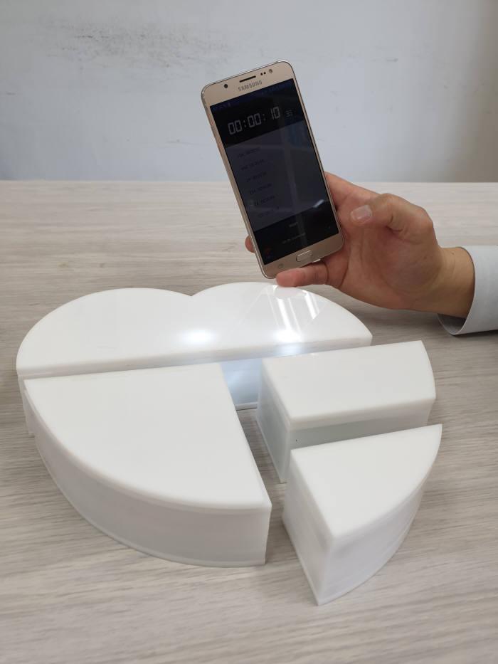 조각을 처음 만지는 순간부터 조각이 완성되기 까지 전 과정이 실시간으로 스마트폰에 전달, 기록된다. 완성 전에는 조각에 불이 들어오며, 완성되면 불이 꺼진다. 맞춘 시간에 따른 점수도 공개된다.