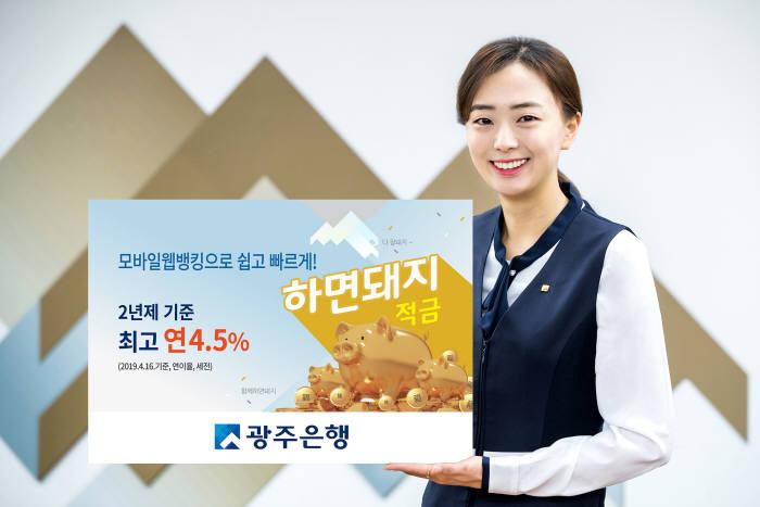 광주銀 '하면돼지적금' 판매 누적 2만좌 돌파