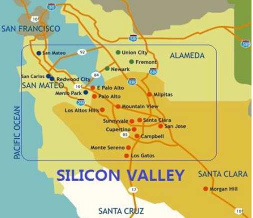 실리콘밸리의 위치 자료:대한무역투자진흥공사(KOTRA)