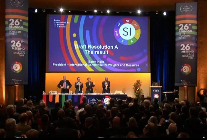 지난해 11월 프랑스에서 열린 국제도량형총회(CGPM) 모습. 총회는 킬로그램(㎏), 암페어(A), 켈빈(K), 몰(mol)을 재정의했다.