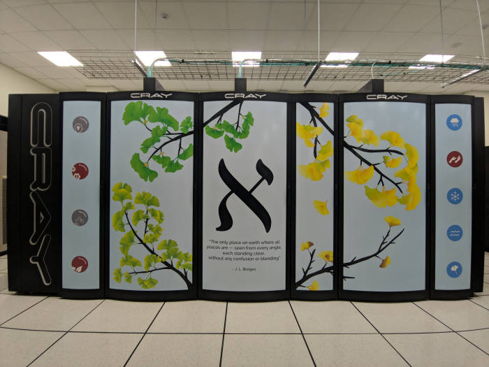 IBS가 기초과학 연구를 위해 구축한 슈퍼컴퓨터 알레프. 연산속도는 1.43PF로 데스크톱 PC 1560대와 같은 성능을 낸다.