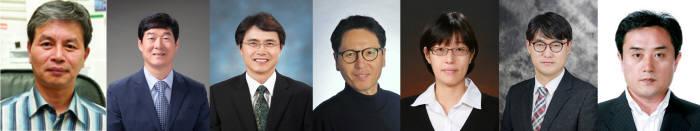 제52회 과학의 날 훈장과 포장, 표창을 수상자 김재일·이병하·정성호·김상돈·한승희·윤명한 교수, 조영욱 책임행정원(왼쪽부터).