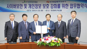 한국인터넷진흥원, 한전KPS와 '에너지산업 분야 사이버보안 역량 강화' 업무협약