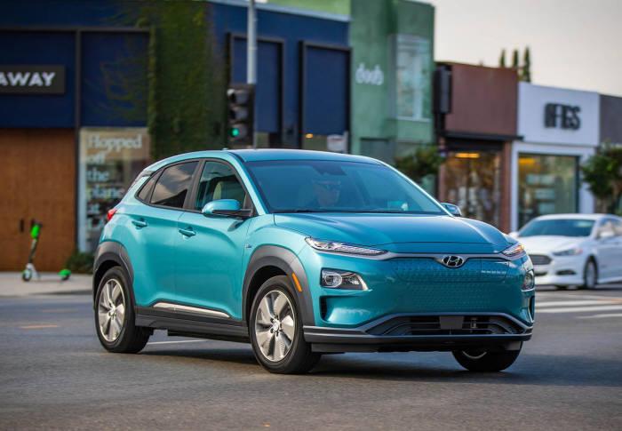 지난달 부터 미국 판매를 시작한 현대차 코나 일렉트릭.