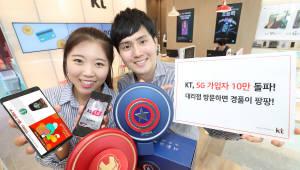 KT, 5G 가입자 10만명 돌파