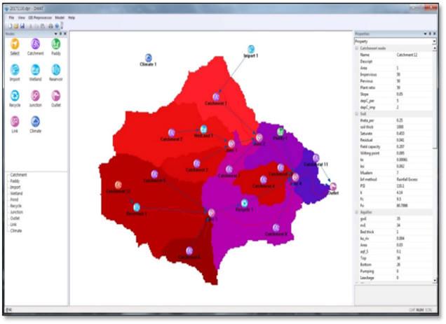 국내 기술로 개발한 수자원평가시스템 디와트 구동화면. [자료:환경부]
