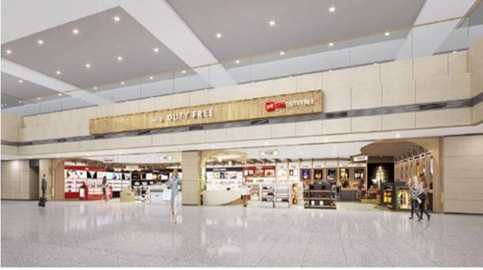 에스엠면세점이 운영하는 제1터미널 입국장 면세점.