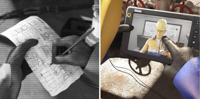 방폭 태블릿을 도입한 사업장. 사진=러기드코리아