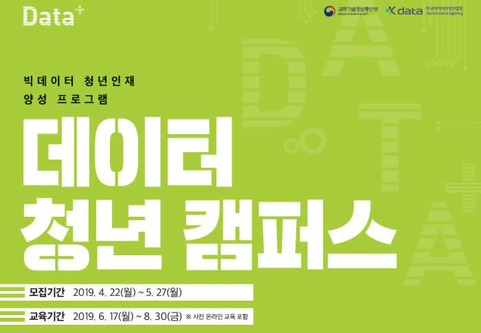 데이터산업진흥원, 데이터 청년 캠퍼스 교육생 모집