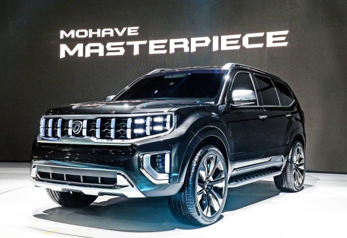 기아차 대형 SUV 모하비 콘셉트카.