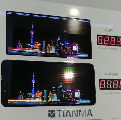 티안마는 미니LED를 사용해 HDR을 구현한 6인치 LTPS LCD 패널을 SID 디스플레이위크 2019에서 선보였다. (사진=전자신문DB)