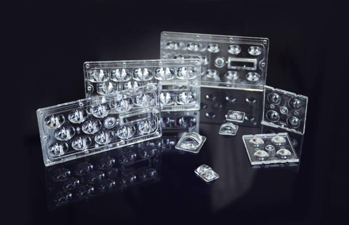 애니캐스팅이 개발한 LED 조명 렌즈.