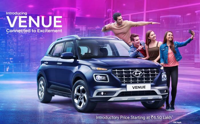 현대자동차가 인도 시장에 출시한 글로벌 엔트리 SUV 베뉴.
