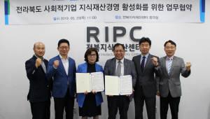 전북지식재산센터-전북사회적기업협의회, 상호협력 업무 협약 체결