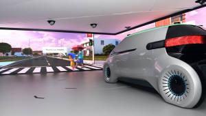 [카&테크]소리와 빛으로 보행자와 소통하는 미래 자동차