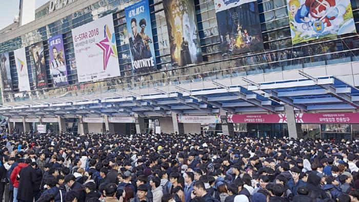 대한민국 최대 게임쇼 지스타에 몰려든 인파