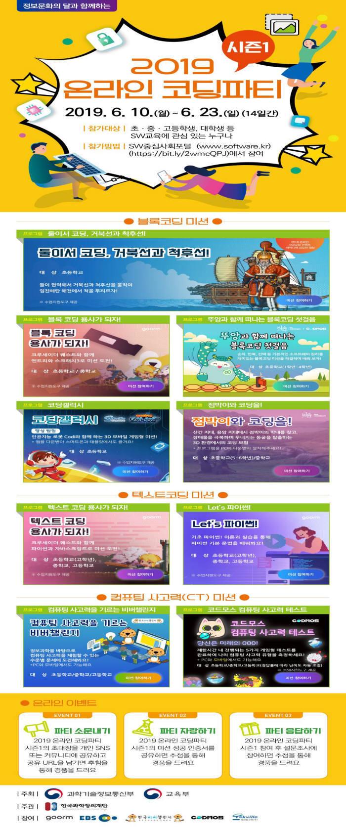 23일까지 온라인 '코딩' 파티 타임!