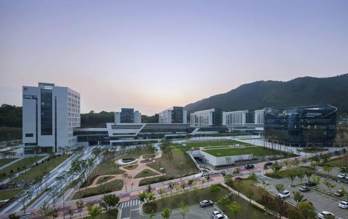 대구경북과학기술원 캠퍼스 전경.