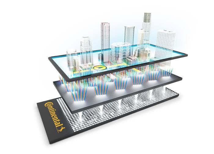 콘티넨탈 라이트필드 디스플레이의 3D 효과는 일반 화면에서 빛을 회절시키는 특수한 방법을 통해 구현된다. (제공=콘티넨탈코리아)