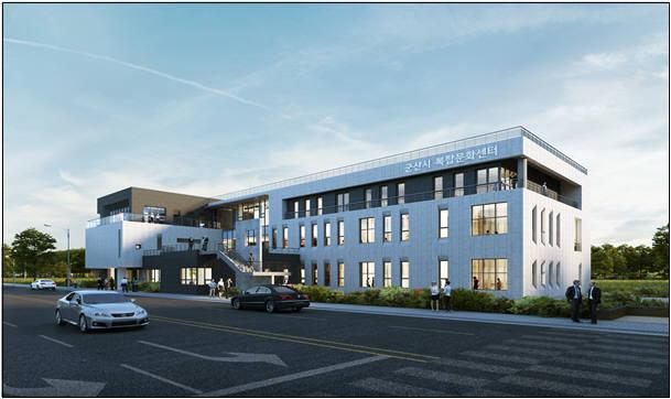군산1·2국가산업단지에 신축될 산업단지 복합문화센터 조감도.