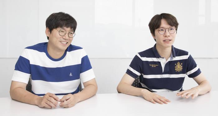 김성하 서든어택 사업팀 팀장(좌), 김태현 서든어택 개발팀 팀장