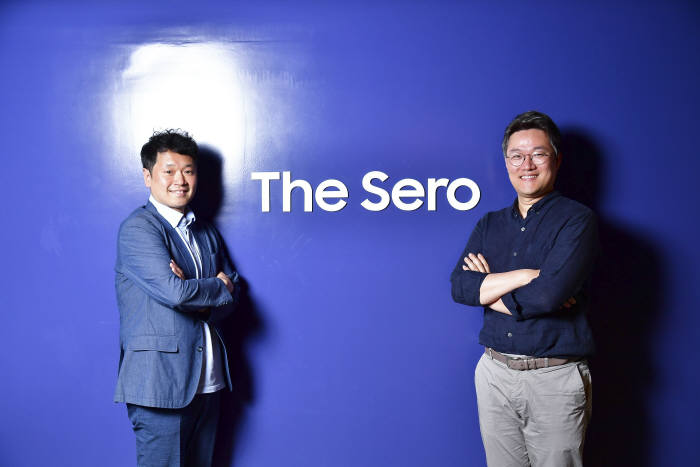 (왼쪽부터) 조철용 삼성전자 FX디자인팀 프로, 정강일 TV상품기획 프로