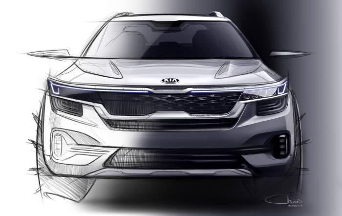 기아차 소형 SUV 셀토스 외관 렌더링 이미지. (제공=기아차)
