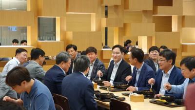 이재용 부회장, 삼성물산 찾아 경영 간담회...'경영 보폭' 확대