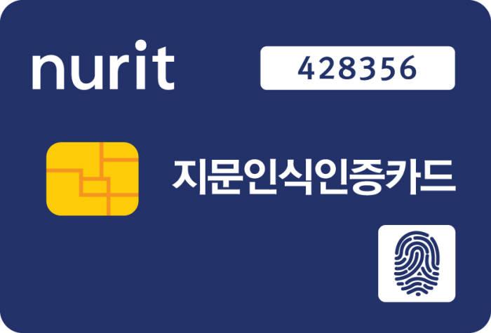 누리아이티가 다음 달 공개할 빠르고 강력하고 저렴해진 지문인식OTP 바로카드(BaroCard) 2.0 제품 사진.