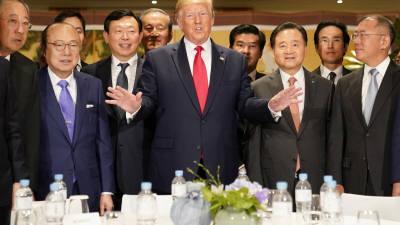 """트럼프 대통령 """"대미 투자 확대 요청""""…화웨이 언급 없어 안도"""