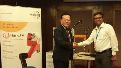 한화 협동로봇, 인도 최대 IT업체 '위프로'와 맞손...13억 시장 공략