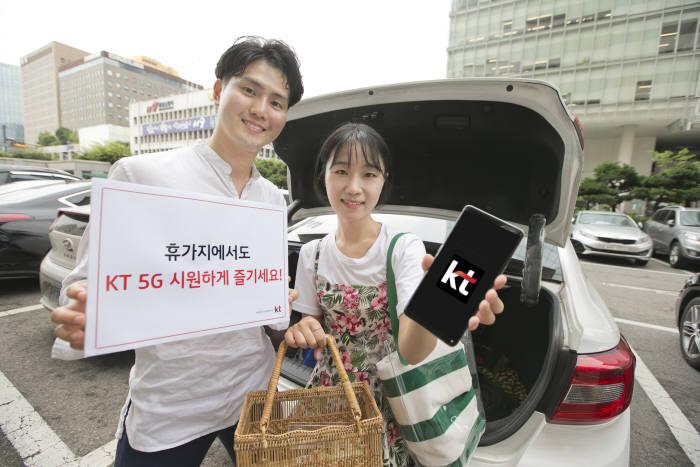 "KT ""해수욕장과 워터파크에서 5G 즐기세요"""