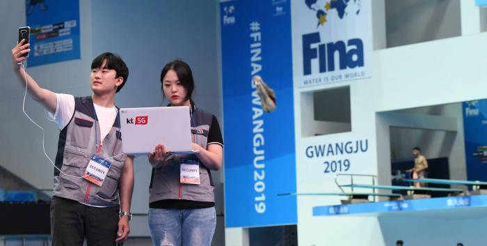 2019광주FINA세계수영선수권대회, 5G 통신으로 보다 더 빠르게