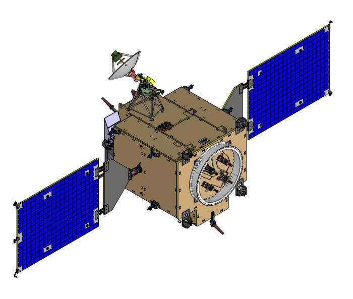2020년 발사 예정인 시험용 달 궤도선 형상 모습
