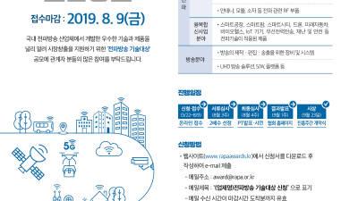 한국전파진흥협회, 제20회 '전파방송기술대상' 공모