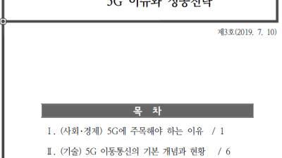 NIA, '5G이슈와 성공전략' 보고서 발간