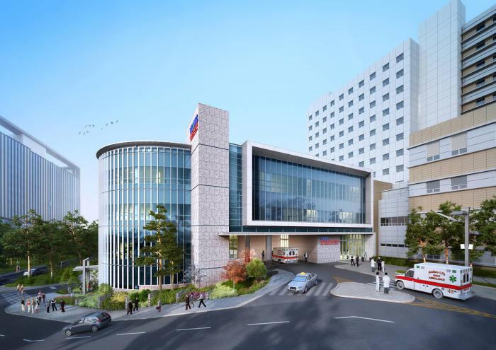 올해말 완공 예정인 영남대병원 미래형 권역응급의료센터 조감도