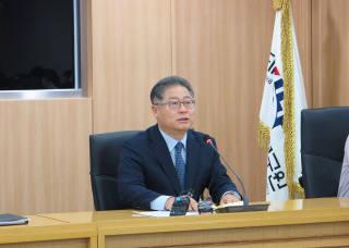 이재영 대외경제정책연구원(KIEP) 원장이 일본의 수출제한조치 분석과 전망 현안토론회에서 발언하고 있다.