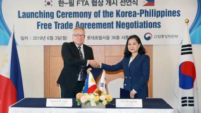 韓-필리핀 FTA 2차 협상 15일 개최...상품·서비스·투자 등 전 분야 협상