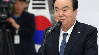 """문희상 """"20대 국회 대표발의 법안 책임감 가져달라"""" 의원 전원에 친전"""