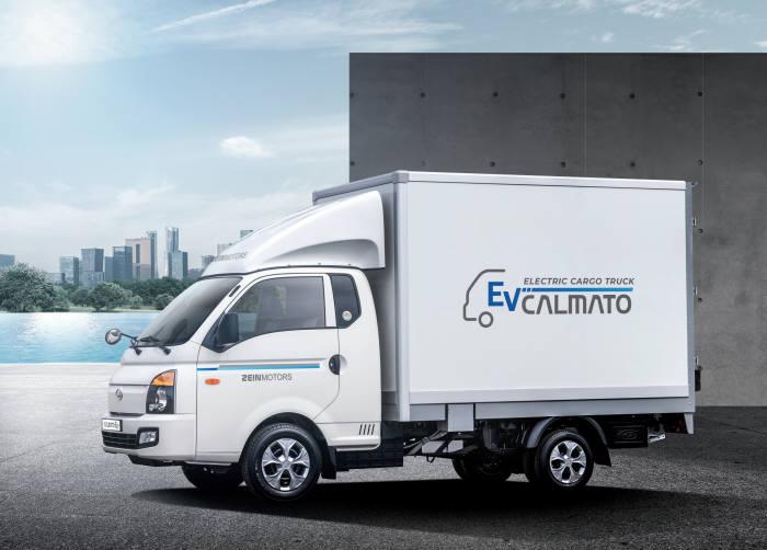 쿠팡 배송서비스 차량에 투입되는 제인모터스 전기트럭 칼마토EV.