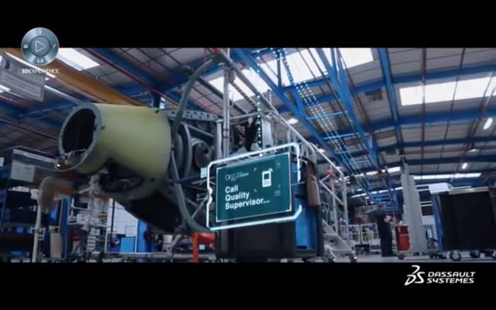 에어버스 헬리콥터 공장에 적용된 다쏘시스템 스마트팩토리 솔루션. 다쏘시스템코리아 제공